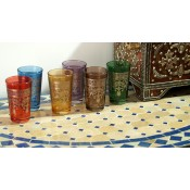 Authentic Moroccan Tea Glasses - Mixed 12