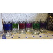 moroccan tea glasses - mixed 2