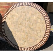 round moroccan mosaic table. 