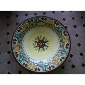 Moroccan Ceramic Plate - P26BY