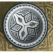 Moroccan Ceramic Safi Side Plate - Green