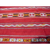 Moroccan Kilim Rug - Red 2