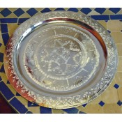 moroccan silver coloured tea tray
