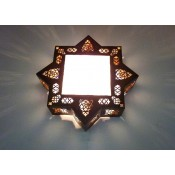stunning moroccan wall lamp with frosted glass.
