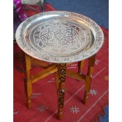 Moroccan Tea Tray Table - TTW55S
