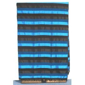 moroccan throw - blue & black