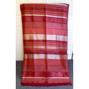 moroccan throw in red and black shades.