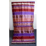 moroccan throw - purple