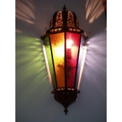 Moroccan Glass Wall Lamp - WGL11 Multi
