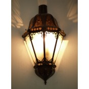 Moroccan Glass Wall Lamp - WGL8 Frosted