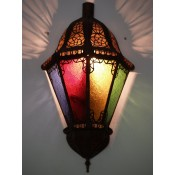 Moroccan Glass Wall Lamp - WGL8 Multi