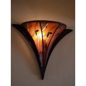 moroccan henna wall lamp with amber and henna design.