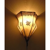 Moroccan Henna Wall Lamp - WHL4 Natural