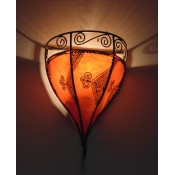 Moroccan Henna Wall Lamp - WHL7 - Amber