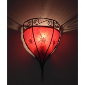 Moroccan Henna Wall Lamp - WHL7 - Red