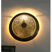 moroccan antique brass wall light shade.