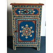 Moroccan Zouak Hand Painted Wooden Cabinet - Blue