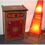 Moroccan Zouak Hand Painted Wooden Cabinet - Red
