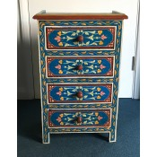 moroccan-zouak-hand-painted-chest of drawers - blue