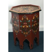 Moroccan Zouak Hand Painted Wooden Table