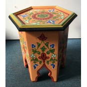 Moroccan Zouak Hand Painted Wooden Side Table