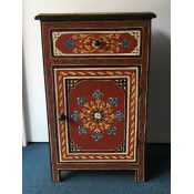 Moroccan Zouak Hand Painted Wooden Cabinet