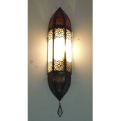 Moroccan Glass Wall Lamp - WGL9 Frosted
