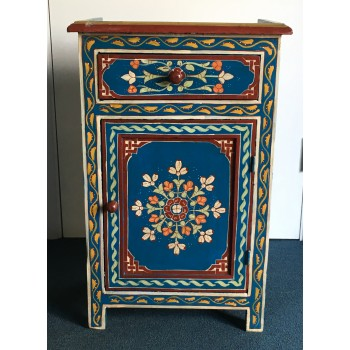 Moroccan Cabinet, Moroccan Zouak Cabinet, Moroccan Wooden Painted Cabinet  Moroccan Home