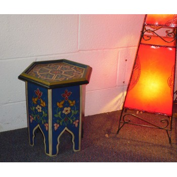 Moroccan Table, Moroccan Zouak Table, Moroccan Wooden Painted Table Moroccan  Home